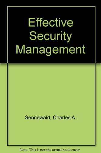 9780409900064: Effective Security Management