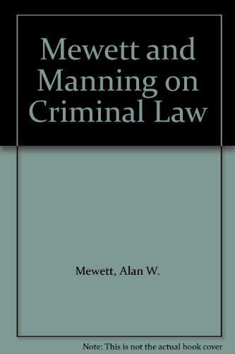 9780409903751: Mewett and Manning on Criminal Law