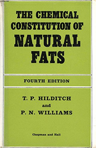 9780412022500: Chemical Constitution of Natural Fats