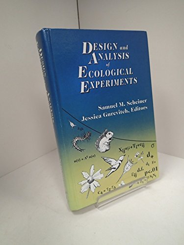 9780412035517: Design and Analysis of Ecological Experiments