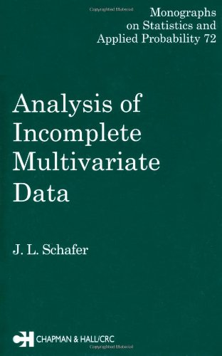 9780412040610: Analysis of Incomplete Multivariate Data (Chapman & Hall/CRC Monographs on Statistics & Applied Probability)