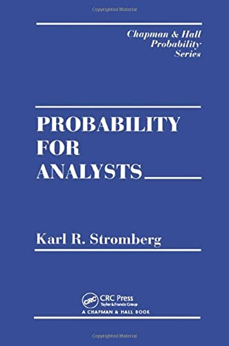 9780412041716: Probability For Analysts