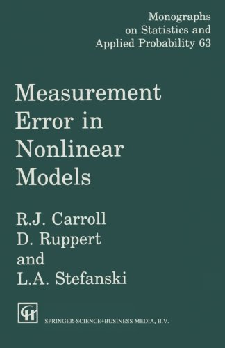 9780412047213: Measurement Error in Nonlinear Models (Monographs on Statistics and Applied Probability)