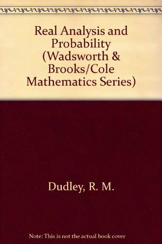 9780412051616: Real Analysis and Probability (Wadsworth & Brooks/Cole Mathematics Series)