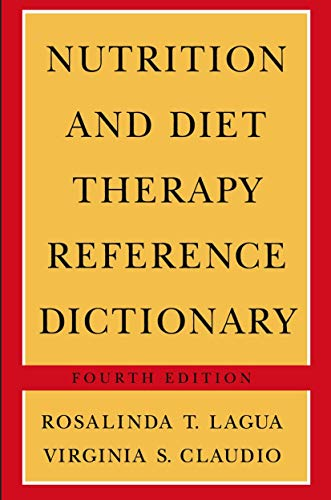 9780412070518: Nutrition And Diet Therapy Reference Dictionary - Fourth Edition