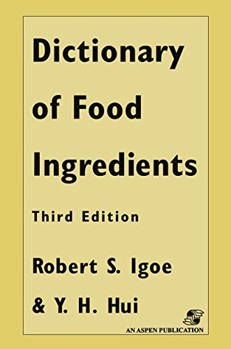 9780412072819: Dictionary of Food and Ingredients (Dictionary of Food Ingredients)