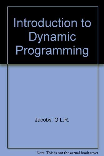 9780412085703: Introduction to Dynamic Programming