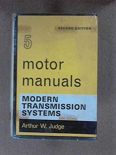 9780412094507: Modern Transmission Systems (Motor Manuals)