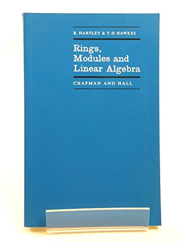 9780412098109: Rings, Modules and Linear Algebra (Mathematics)