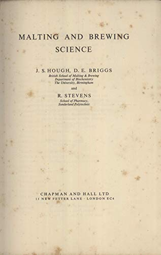 Malting and Brewing Science: J.S. Hough, etc.