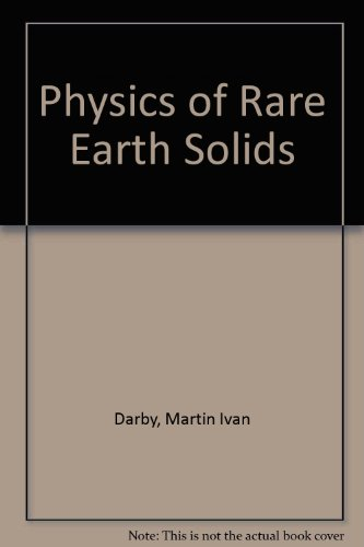 9780412101601: Physics of Rare Earth Solids