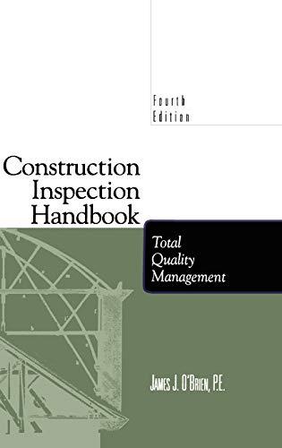 9780412112317: Construction Inspection Handbook: Total Quality Management
