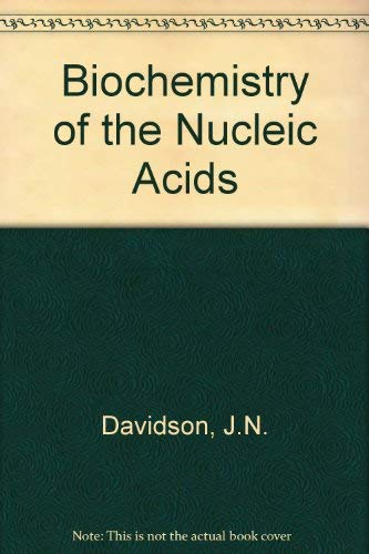 9780412114809: The biochemistry of the nucleic acids (Science paperbacks, no. 85)