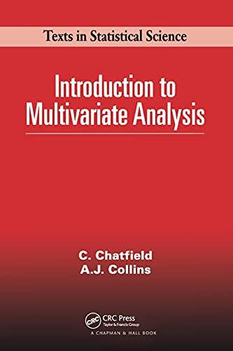 9780412160400: Introduction to Multivariate Analysis