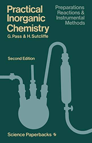 9780412161506: Practical Inorganic Chemistry: Preparations, reactions and instrumental methods (Science Paperbacks)