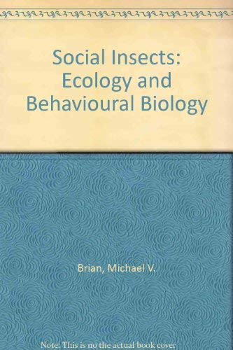 9780412229305: Social Insects: Ecology and Behavioural Biology