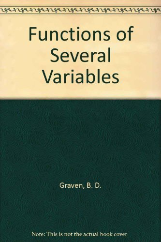 9780412233302: Functions of Several Variables