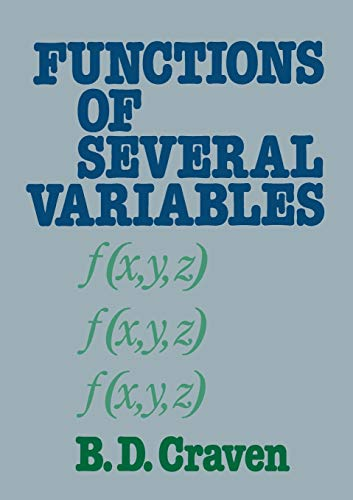9780412233401: Functions of several variables