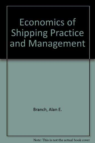 9780412235801: Economics of Shipping Practice and Management