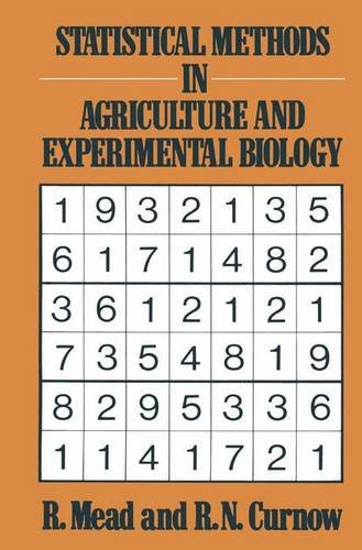 9780412242403: Statistical Methods in Agriculture and Experimental Biology (Chapman & Hall Statistics Text Series)