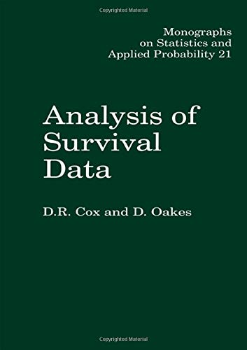 9780412244902: Analysis of Survival Data (Chapman & Hall/CRC Monographs on Statistics & Applied Probability)