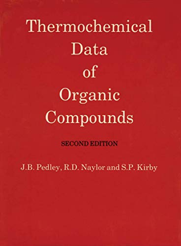 9780412271007: Thermochemical Data of Organic Compounds