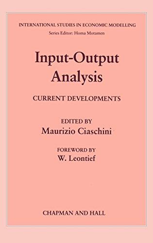 Input-Output Analysis: Current Developments: ciaschini,maurizio