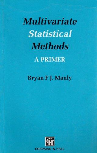 9780412286209: Multivariate Statistical Methods: A Primer (Chapman & Hall Statistics Text Series)