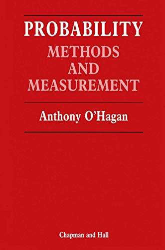 9780412295300: Probability: Methods and Measurements