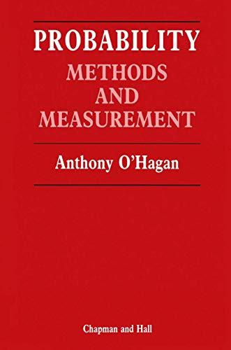 9780412295300: Probability: Methods and measurement (Chapman & Hall Statistics Text Series)