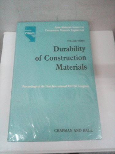 9780412301407: From Materials Science to Construction Materials Engineering