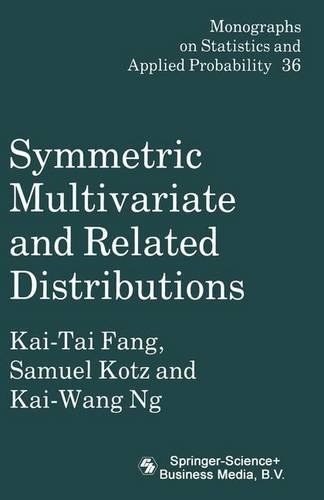 9780412314308: Symmetric Multivariate and Related Distributions (Chapman & Hall/CRC Monographs on Statistics & Applied Probability)