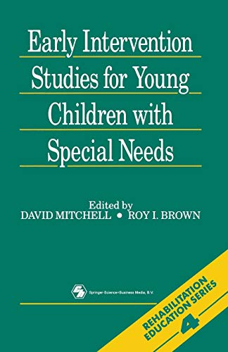 9780412315305: Early Intervention Studies for Young Children with Special Needs (Rehabilitation education)