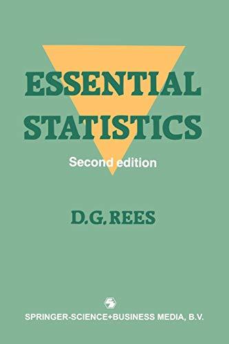9780412320309: Essential Statistics