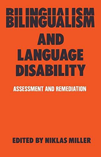 9780412321603: Bilingualism and Language Disability: Assessment & Remediation