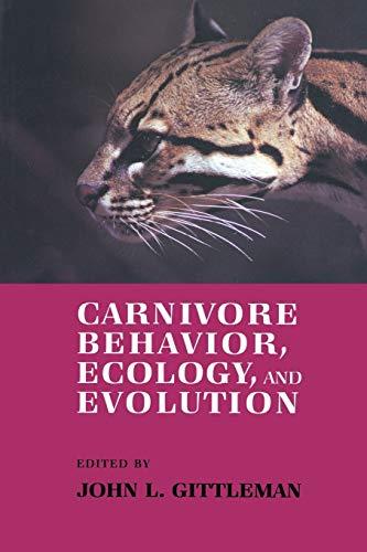 9780412343605: Carnivore Behavior, Ecology, and Evolution (Volume 1)