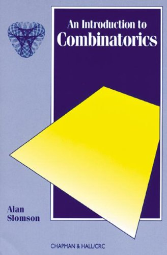 9780412353703: Introduction to Combinatorics (Chapman Hall/Crc Mathematics)