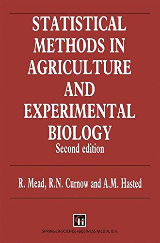 9780412354700: Statistical Methods in Agriculture and Experimental Biology (Chapman & Hall Statistics Text Series)
