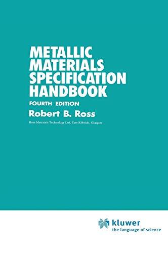 9780412369407: Metallic Materials Specification Handbook