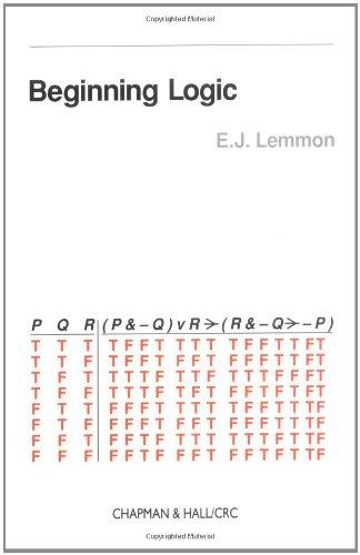 9780412380907: Beginning Logic