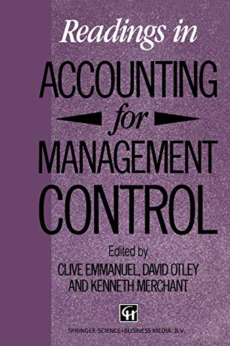 Readings in Accounting for Management Control (The: Emmanuel, Clive, Otley,
