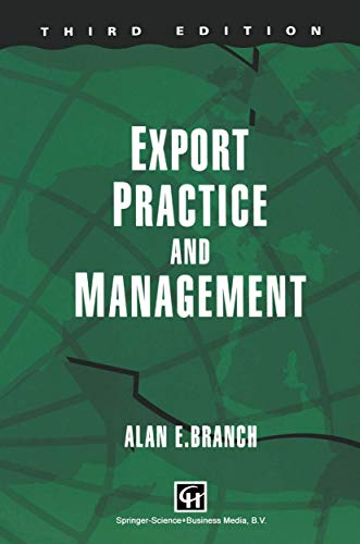 Export Practice and Management: Alan E Branch
