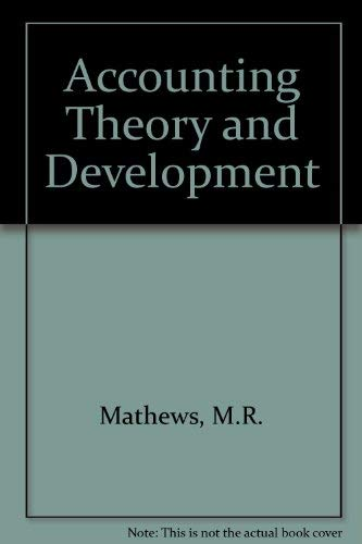 9780412428401: Accounting Theory and Development