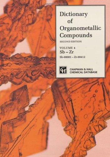 9780412430602: Dictionary of Organometallic Compounds (Vol 1)