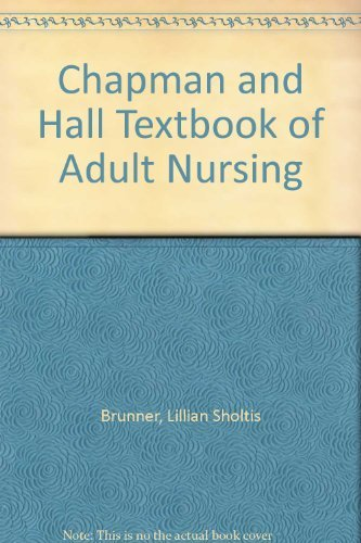 9780412439803: Chapman and Hall Textbook of Adult Nursing
