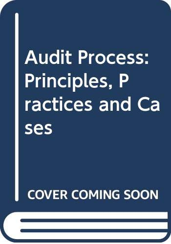 9780412444005: The Audit Process: Principles, Practice and Cases