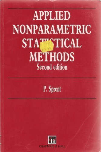 9780412449802: Applied Non-Parametric Statistical Methods, Second Edition (Chapman & Hall/CRC Texts in Statistical Science)
