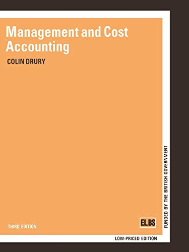 MANAGEMENT AND COST ACCOUNTING (The Chapman and: DRURY, COLIN M.
