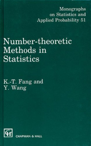 9780412465208: Number-Theoretic Methods in Statistics (Chapman & Hall/CRC Monographs on Statistics & Applied Probability)