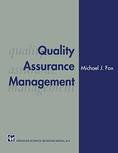9780412467905: Quality Assurance Management